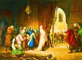"""لوحة """"خروج أسرة أبوعبديل من الحمراء"""""""