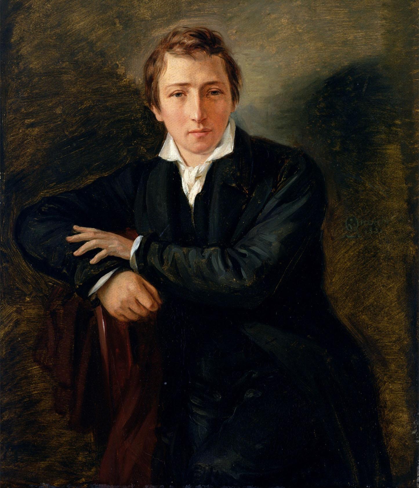 هاينرش هاينه سنة 1831 م ، بريشة الألماني موريتز دانيال أوبنهايم