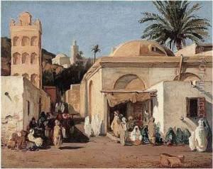A proximite de la porte bab el-Oued a Alger en debut du 19 eme siecle بمحاذاة باب الوادي في مدينة الجزائر في بداية القرن 19م