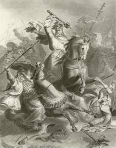 رسم لشارل مارتل فى معركة لا بواتيه