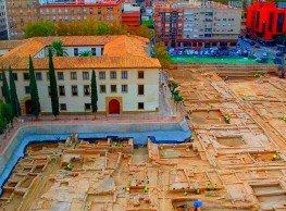 """""""موقع سان إستيبان الأثري"""" حي أندلسي من القرنين XII و XIII اكتُشِفَ سنة 2009 بمرسية."""