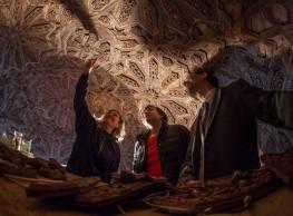 اكتشاف جديد في سقف أحد أجنحة بهو اﻷسود في قصر الحمراء.